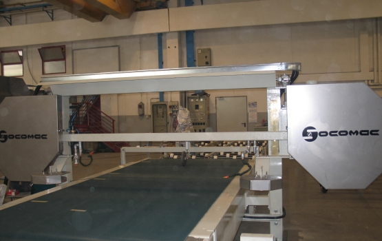 SPLITTING MACHINE WITH DIAMOND WIRE