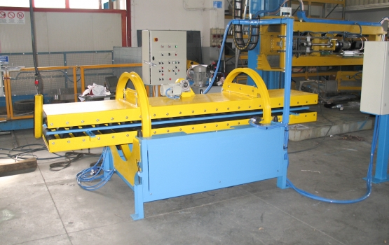 Overturning machine for slabs and strips RIB61